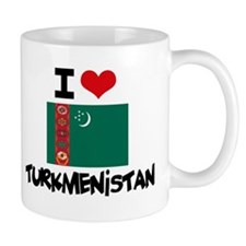 I HEART TURKMENISTAN FLAG Mug
