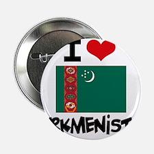 "I HEART TURKMENISTAN FLAG 2.25"" Button"