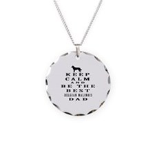 Keep Calm Belgian Malinois Designs Necklace