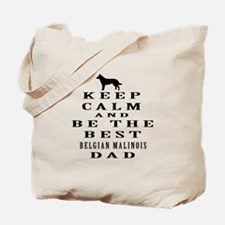 Keep Calm Belgian Malinois Designs Tote Bag