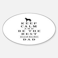 Keep Calm Belgian Malinois Designs Decal