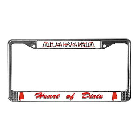 Alabama flag front license plate