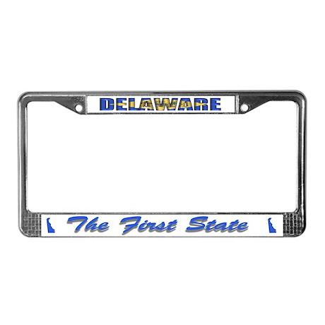 Delaware Flag Drk License Plate Frame