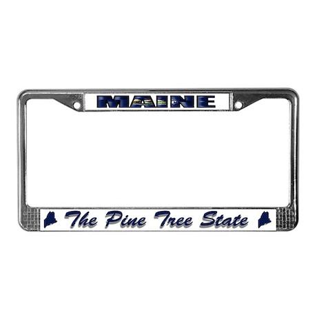 Maine Flag Drk License Plate Frame