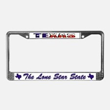 Texas Flag Drk License Plate Frame