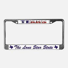 Texas Flag Drk License Plate Frame