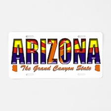Arizona Flag Canyon Drk Aluminum License Plate