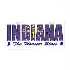 Indiana Flag Hoosier Drk Aluminum License Plate