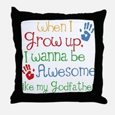 Awesome Godfather Throw Pillow