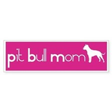 Pit Bull Mom Bumper Bumper Sticker