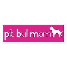 Pit Bull Mom Bumper Bumper Sticker