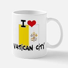 I HEART VATICAN CITY FLAG Mug