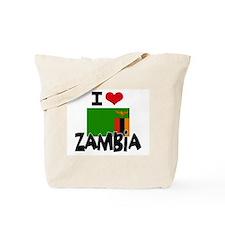 I HEART ZAMBIA FLAG Tote Bag