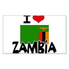 I HEART ZAMBIA FLAG Decal