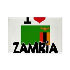 I HEART ZAMBIA FLAG Rectangle Magnet