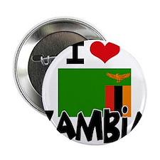 "I HEART ZAMBIA FLAG 2.25"" Button"