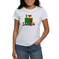 I HEART ZAMBIA FLAG T-Shirt