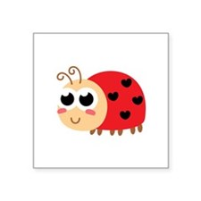 Cute Ladybug With hearts as spots Sticker