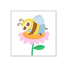 Cute Baby Bee resting on a flower Sticker