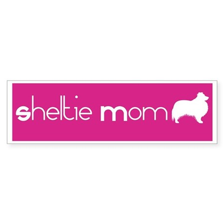 Sheltie Mom Bumper Sticker