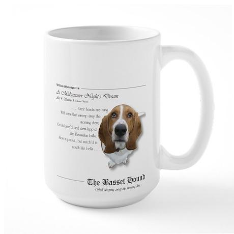 Shakespeare Basset Quote Large Mug