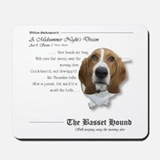 Shakespeare Basset Quote Mousepad