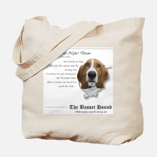 Shakespeare Basset Quote Tote Bag