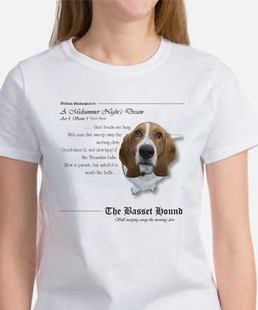 Shakespeare Basset Quote Women's T-Shirt