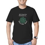 Christmas Peas 2 Men's Fitted T-Shirt (dark)
