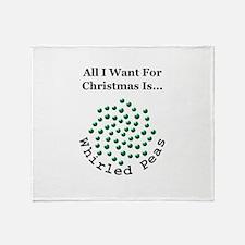 Christmas Peas 2 Throw Blanket