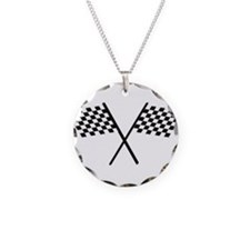 Racing Checkered Flags Necklace
