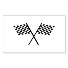 Racing Checkered Flags Decal