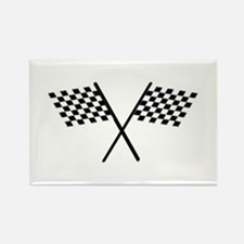 Racing Checkered Flags Rectangle Magnet