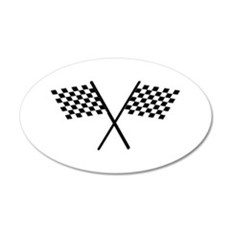 Racing Checkered Flags Wall Decal