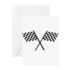 Racing Checkered Flags Greeting Card