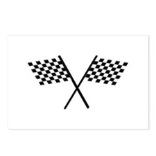 Racing Checkered Flags Postcards (Package of 8)