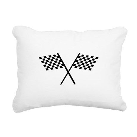 Racing Checkered Flags Rectangular Canvas Pillow
