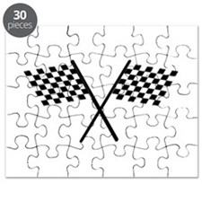 Racing Checkered Flags Puzzle
