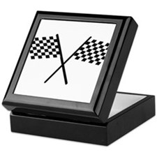 Racing Checkered Flags Keepsake Box
