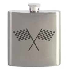 Racing Checkered Flags Flask
