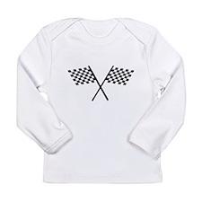 Racing Checkered Flags Long Sleeve T-Shirt