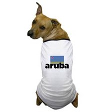 I HEART ARUBA FLAG Dog T-Shirt