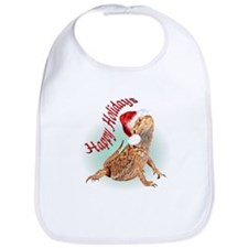 Bearded Dragon Santa Bib