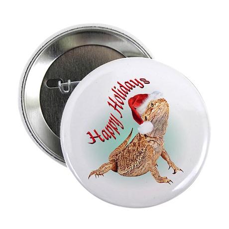 "Bearded Dragon Santa 2.25"" Button (10 pack)"