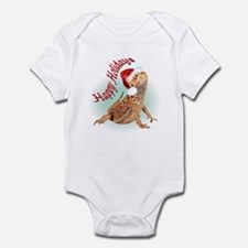 Bearded Dragon Santa Infant Bodysuit
