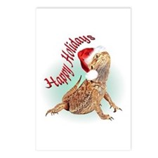 Bearded Dragon Santa Postcards (Package of 8)