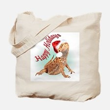Bearded Dragon Santa Tote Bag