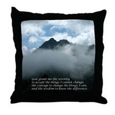 Chimney Tops - Serenity Praye Throw Pillow