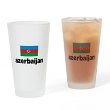 I HEART AZERBAIJAN FLAG Drinking Glass