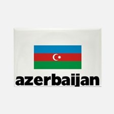 I HEART AZERBAIJAN FLAG Rectangle Magnet